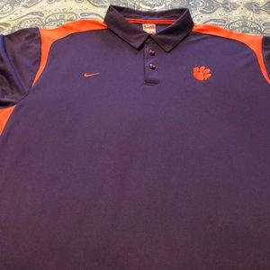 Clemson Dr-fit Nike Polo